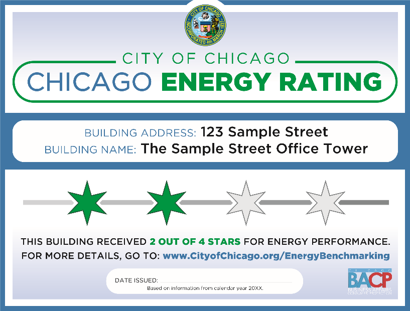 Chicago Benchmarking Rating Certificate