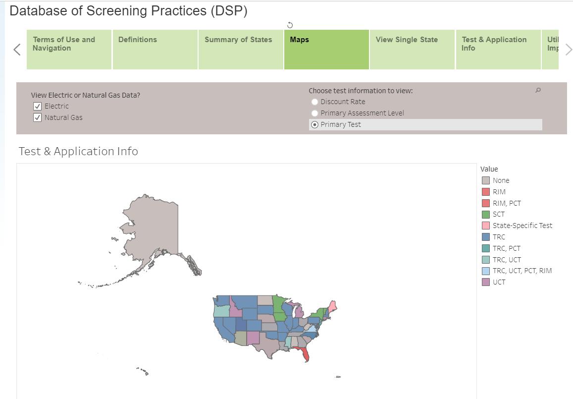 Database of Screening Practices