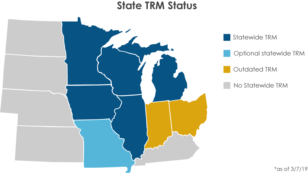 map of states with TRMs