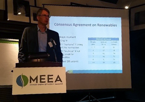 Attendees learned about the changes made to the latest model energy code, the 2018 IECC. The model code now provides a code compliance pathway when installing solar panels on residential homes, according to Eric Makela, Senior Associate for Cadmus.