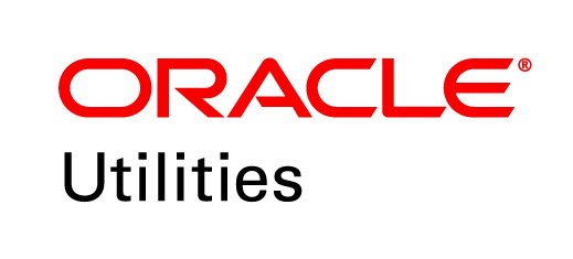 "oracle utilities logo - red ""oracle"" above black ""utilities"""