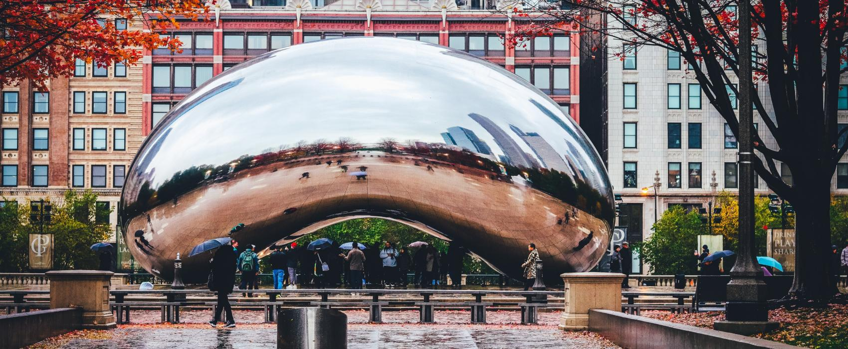 the chicago bean in fall