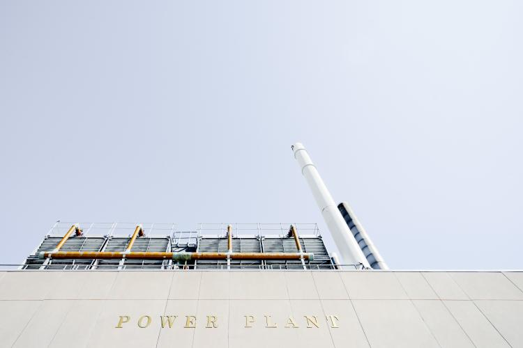 a grey power plant