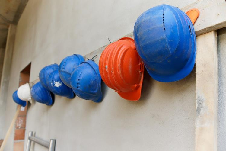 hanging hard hats