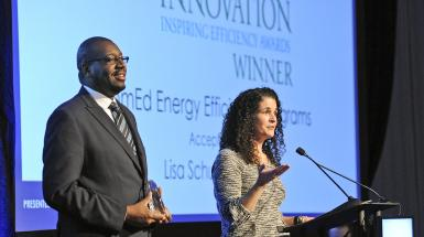 awardees accepting the Inspiring Efficiency Innovation award