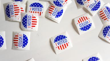 """I voted"" stickers"