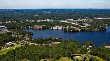 aerial view of wisconsin dells